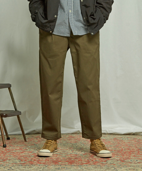 [프리즘웍스] HAWORTH ONE TUCK PANTS _ OLIVE