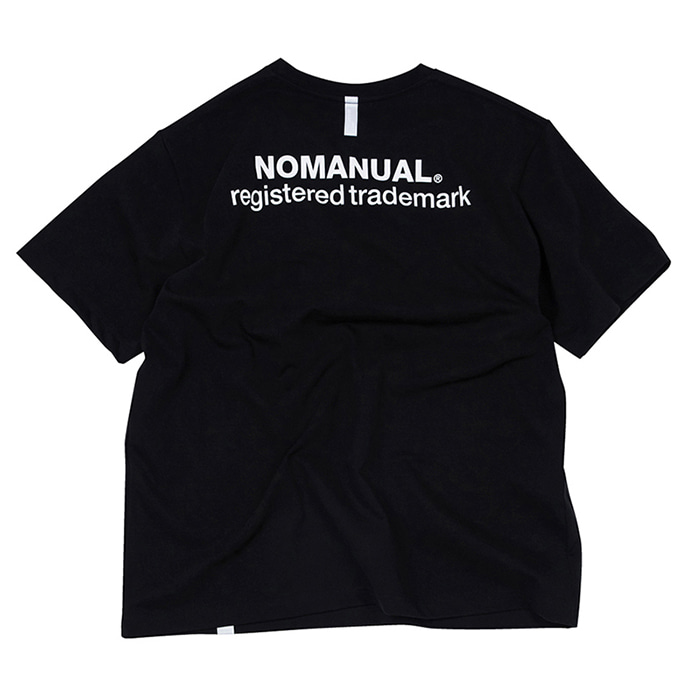 [노매뉴얼]NM PATCH LOGO T-SHIRT - BLACK