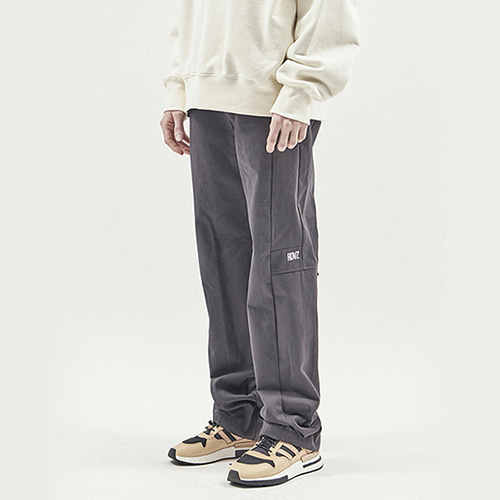 [알디브이제트] TAPE DECO WORK PANTS CHARCOAL