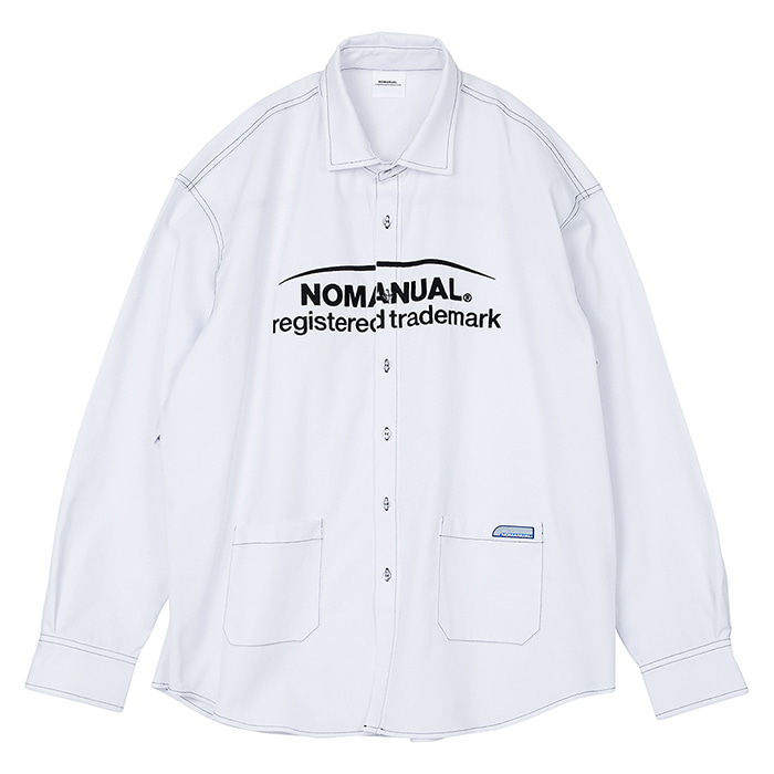 [노매뉴얼]TM LOGO WORK SHIRT - WHITE
