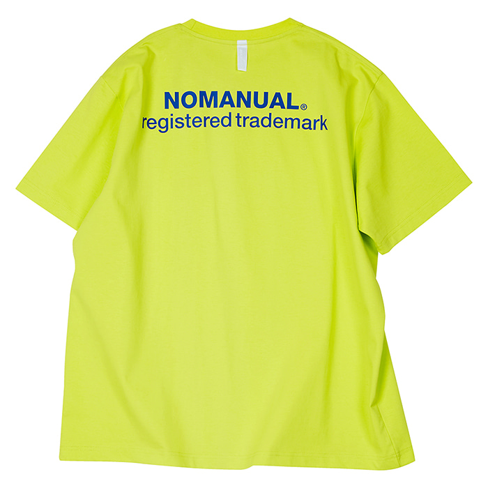 (M5/30 배송)[노매뉴얼]NM PATCH LOGO T-SHIRT - NEON GREEN