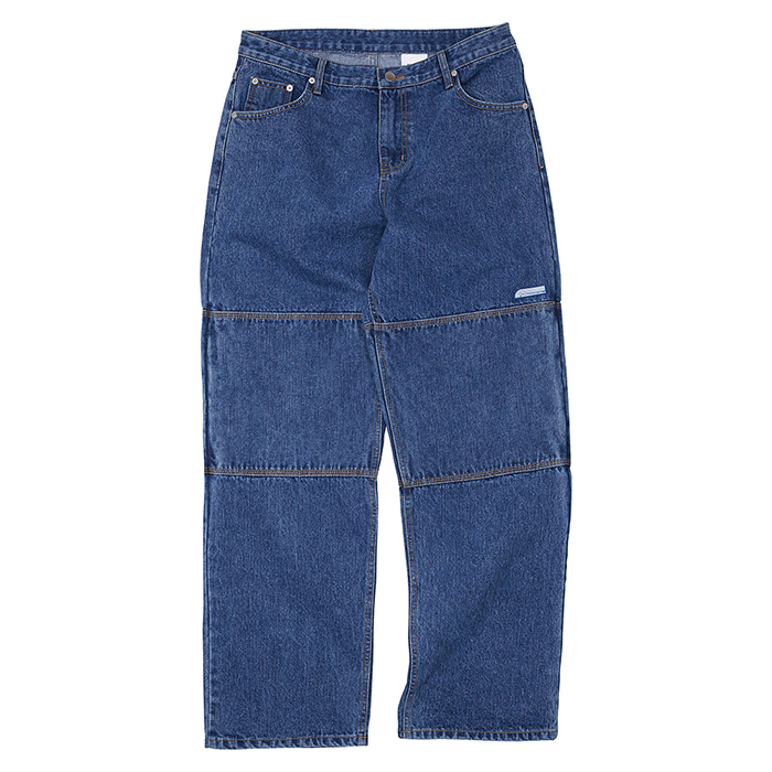 [노매뉴얼] NM DOUBLE KNEE DENIM PANTS - BLUE