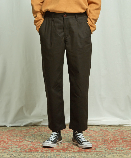[프리즘웍스] HAWORTH ONE TUCK PANTS _ BLACK