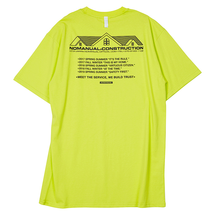 [노매뉴얼] NM CONSTRUCTION T-SHIRT - NEON GREEN