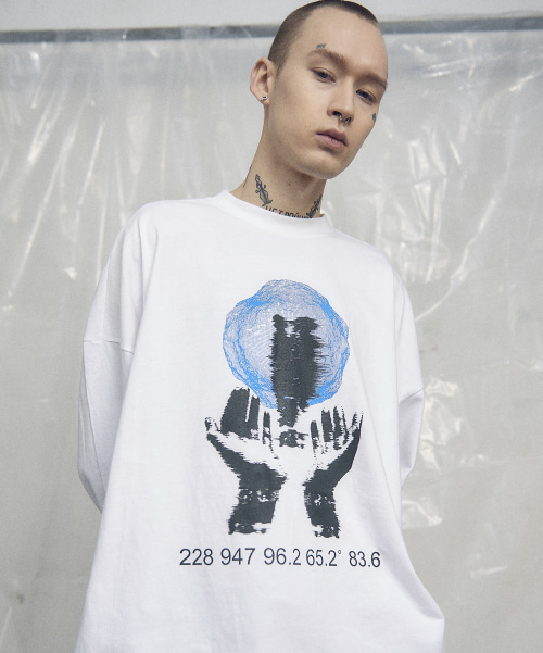 [오베르] 19SS PRAYER WHITE L/S TEE