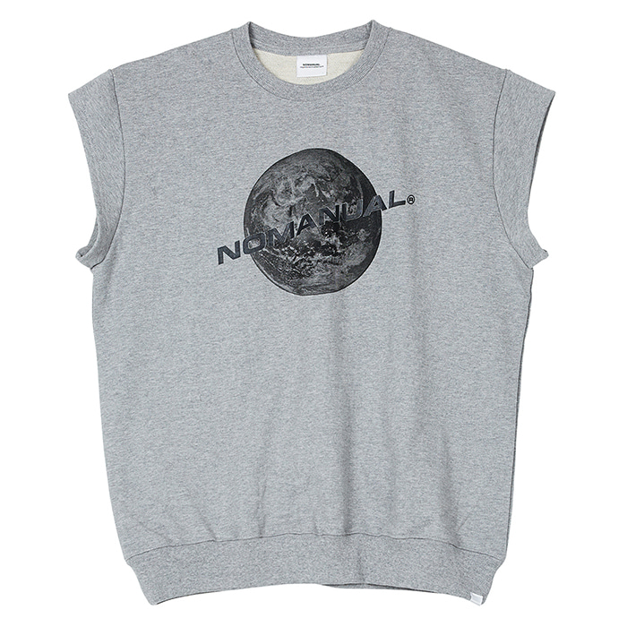 [3/20 예약배송][노매뉴얼] NM SLEEVELESS SWEATSHIRT - MELANGE
