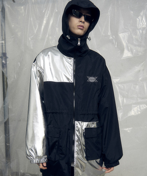 [오베르] 19SS SILVER FOIL ARRANGMENT WINDCHEATER