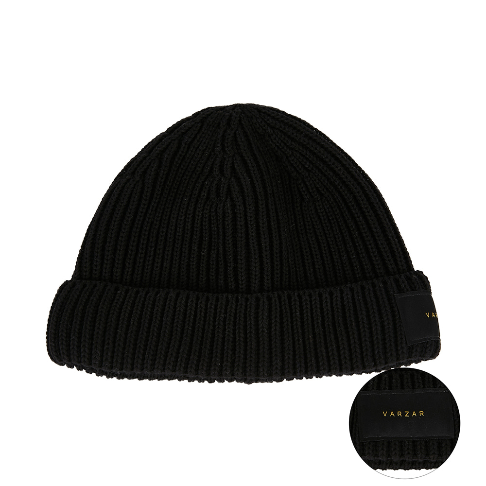 [바잘] Everyday label watch cap black
