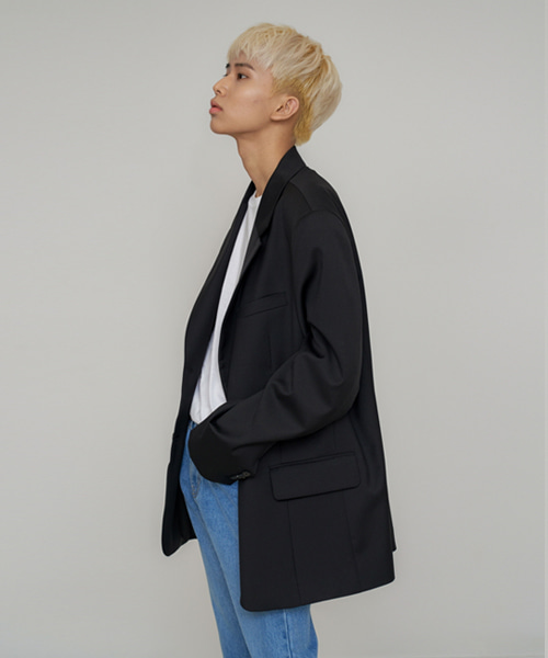 [에스티유]2 Button overfit blazer black