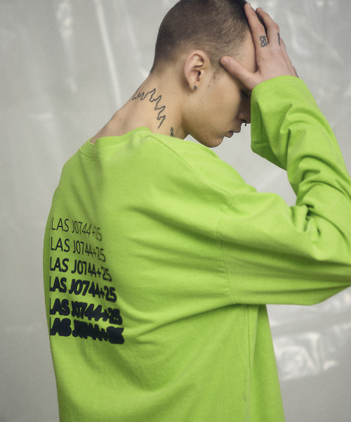 [오베르] 19SS PIGMENT YELLOWGREEN L/S TEE