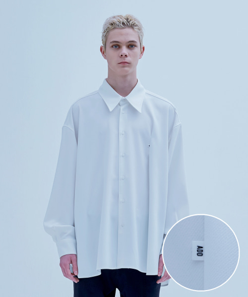 [에드] MINI LABEL AVANTGARDE SHIRT WHITE