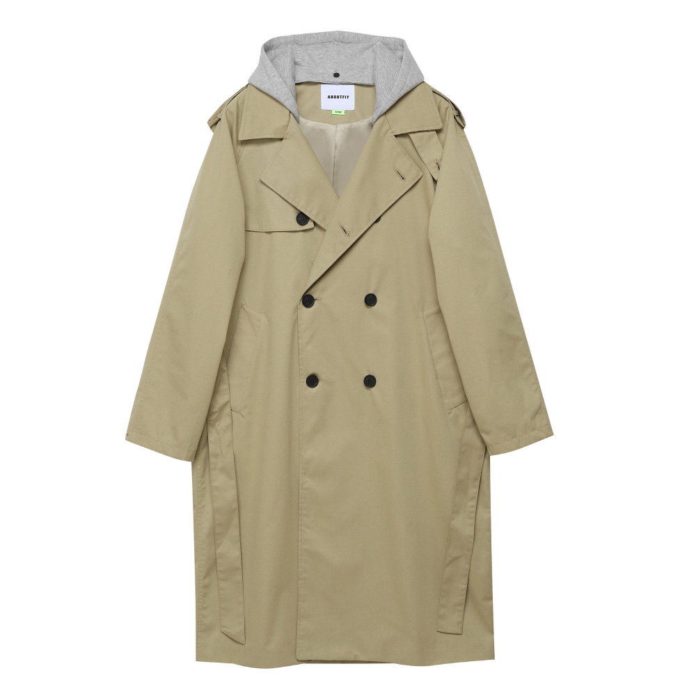 [언아웃핏] UNISEX TRENCH DOUBLE COAT BEIGE