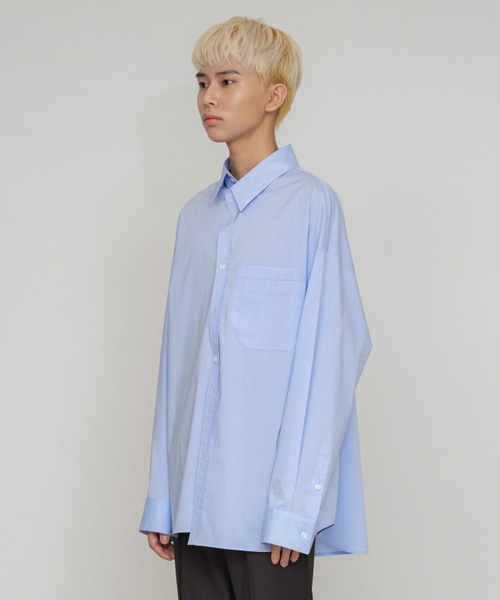 [에스티유] Overfit shirt skyblue