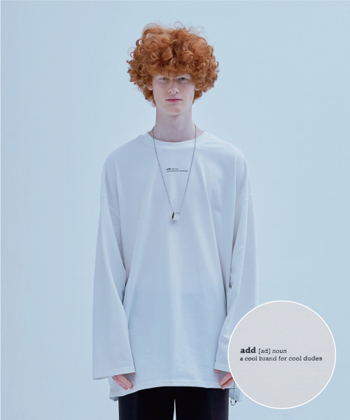 [에드] DEFINITION LONG SLEEVED T WHITE