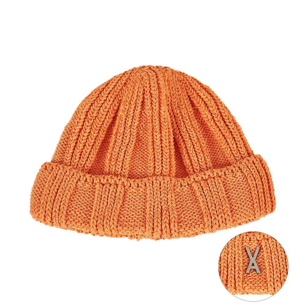 [바잘] Everyday stud watch cap orange