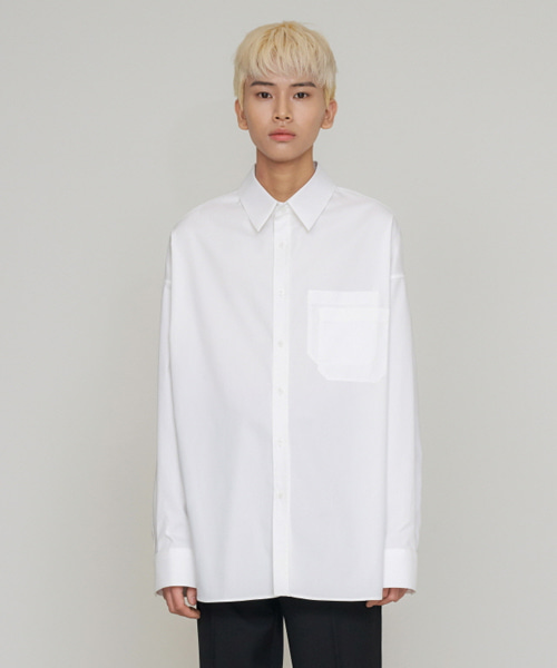 [에스티유] Overfit shirt white