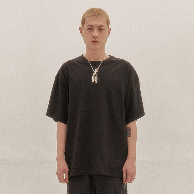 [이노반트] basic over t shirts v2 (Black)