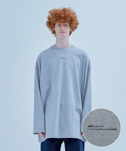 [에드] DEFINITION LONG SLEEVED T GRAY