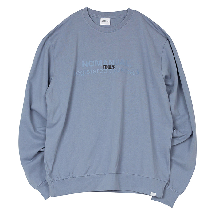 [3/20 예약배송][노매뉴얼] TOOLS LONG SLEEVE TEE - BLUE GRAY