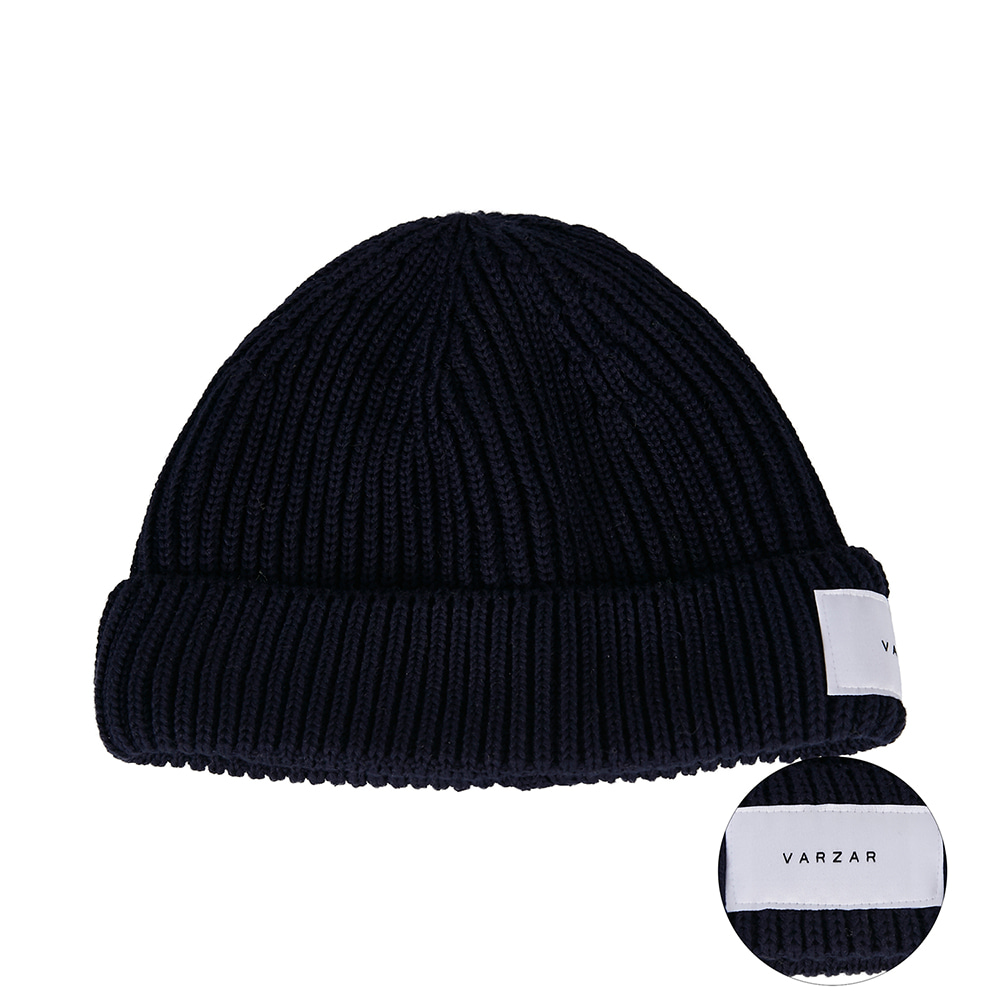 [바잘] Everyday label watch cap navy