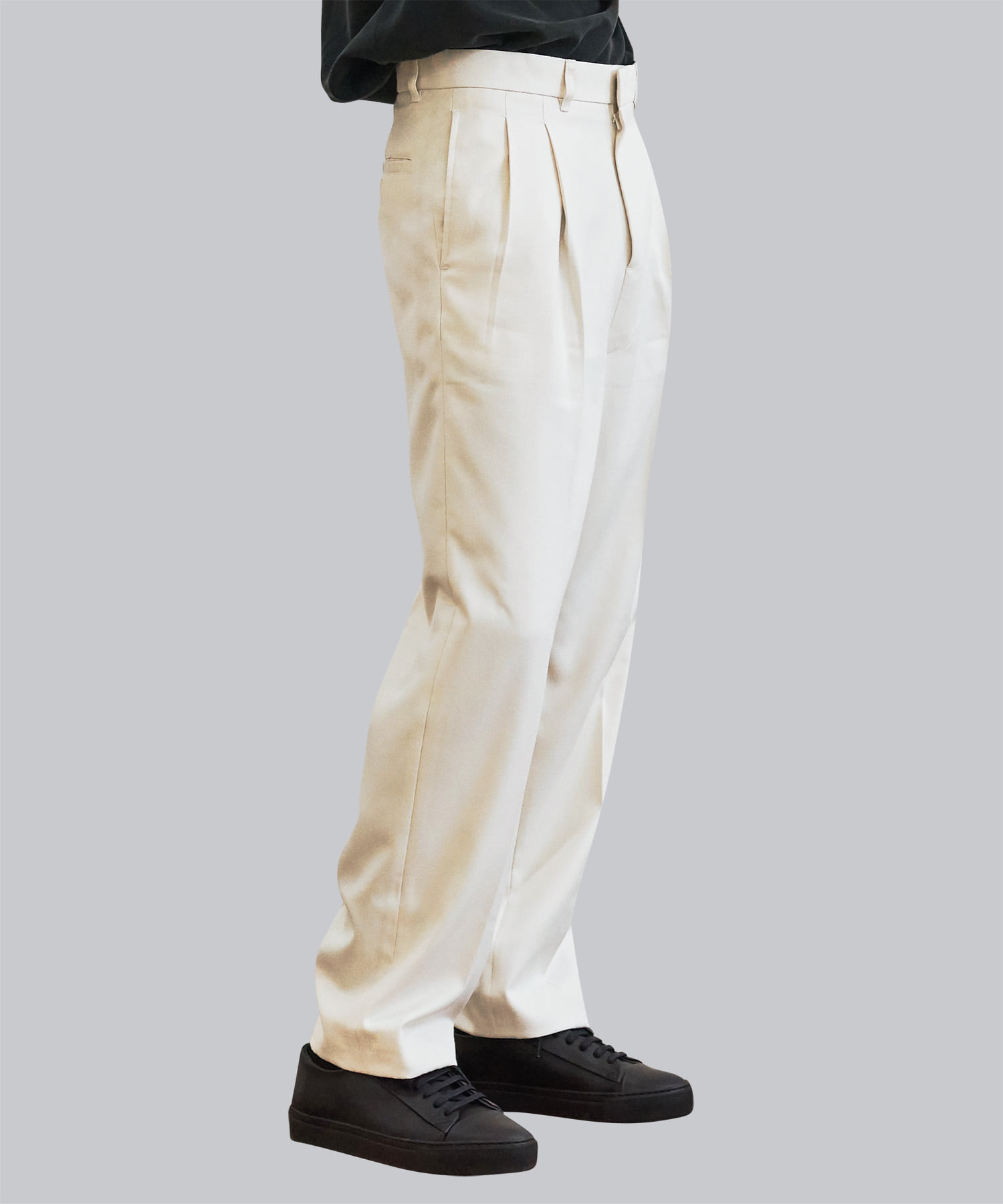 [우네리] Highwaist Pleats Slacks _ cream