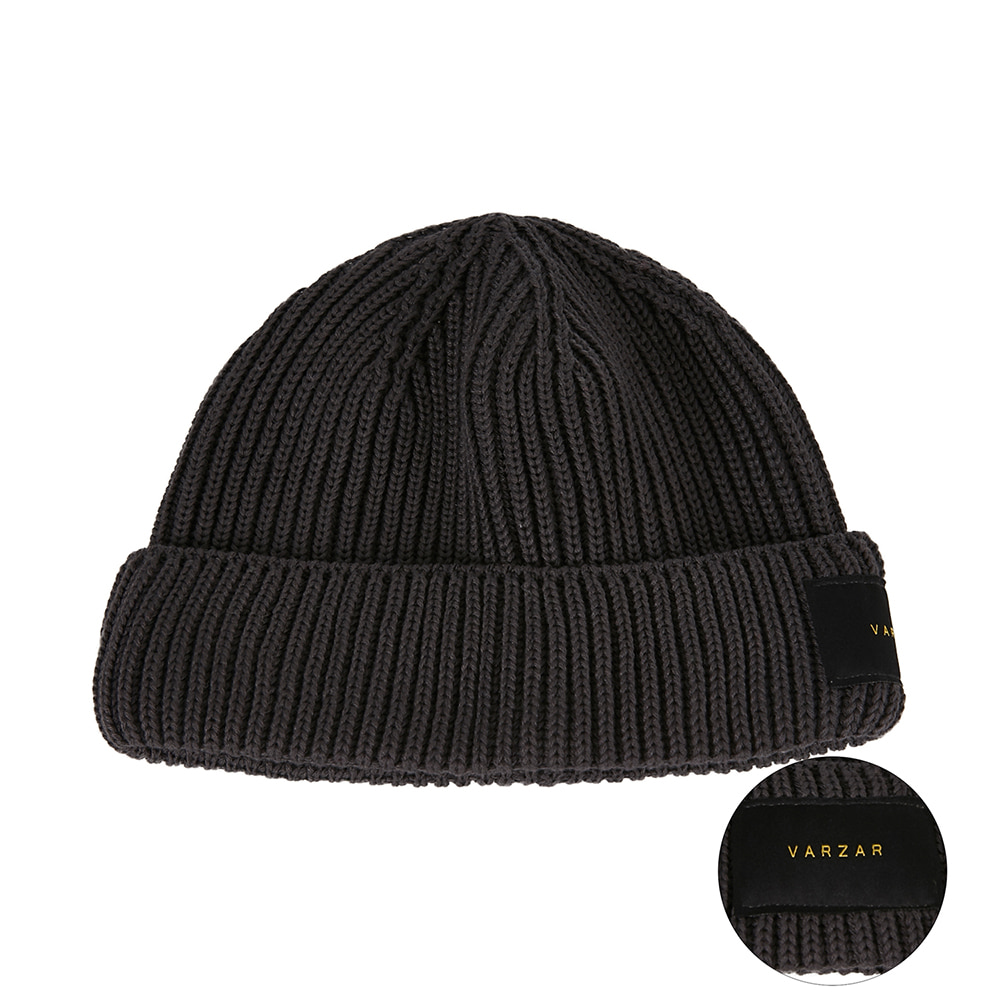 [바잘] Everyday label watch cap dark gray