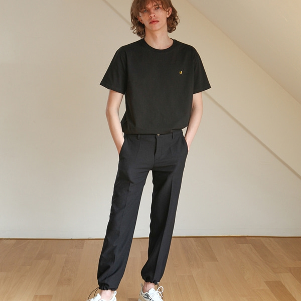 [트립르센스] STRETCH STRING PANTS BLACK