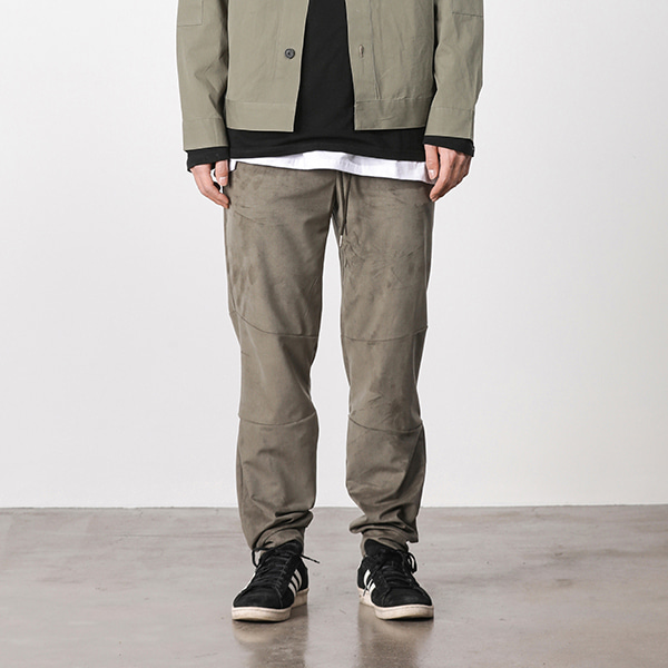 [페이탈리즘] Suede loose fit jogger pants (khaki) #jp04