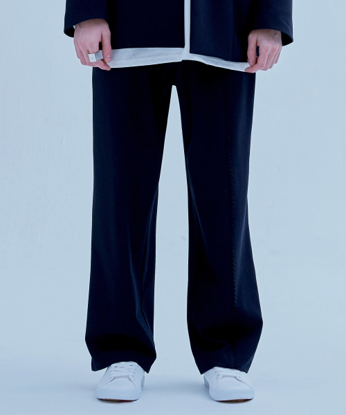 [에드] STAMP EDGE SUIT PANTS NAVY