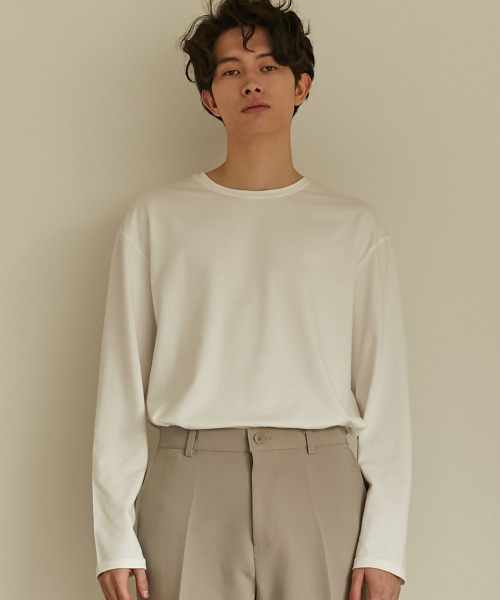 [3/22 배송][(407)하우스] Modal Long Sleeve T-Shirt (White)