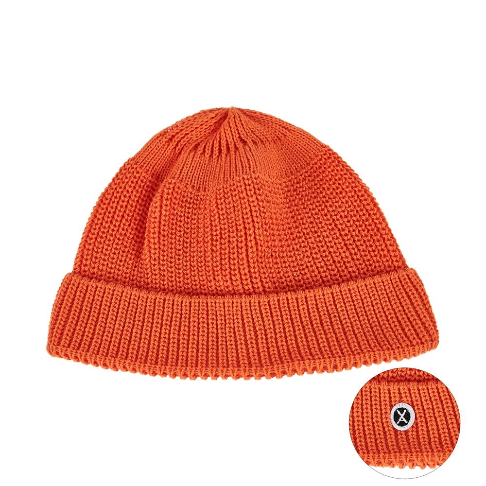 [바잘] Everyday wappen watch cap orange