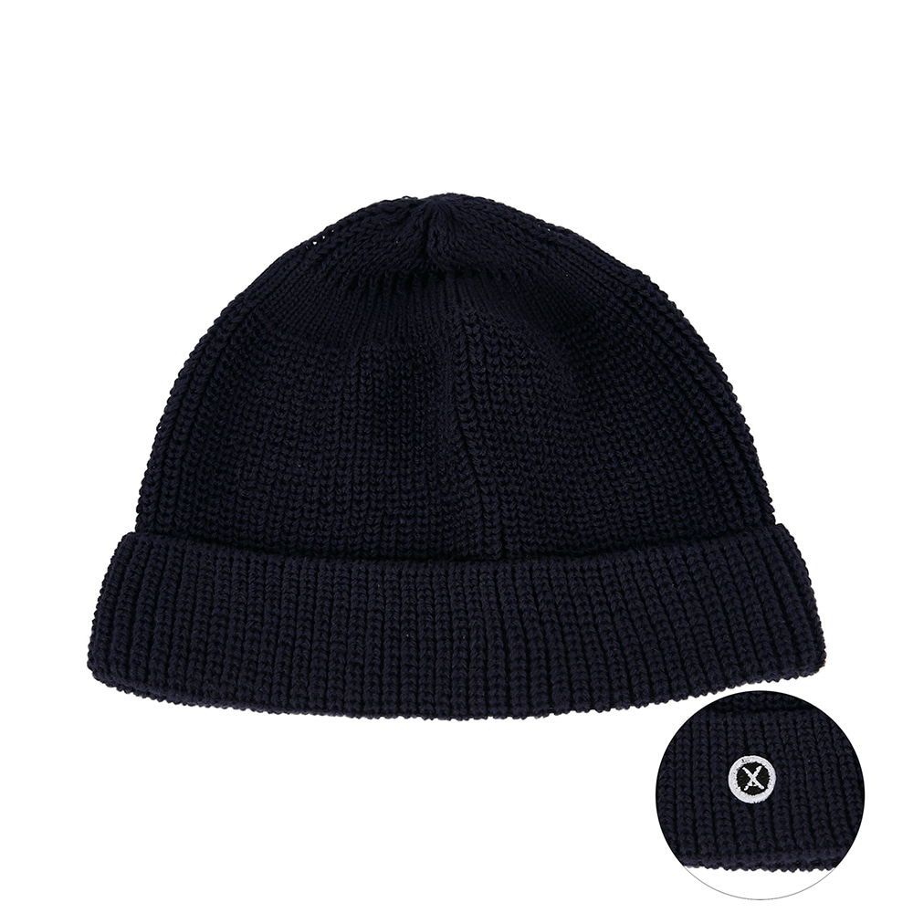 [바잘] Everyday wappen watch cap navy
