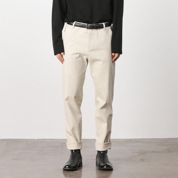 [4/4 예약발송][페이탈리즘]Fatigue hound tapered pants (ivory) #jp02