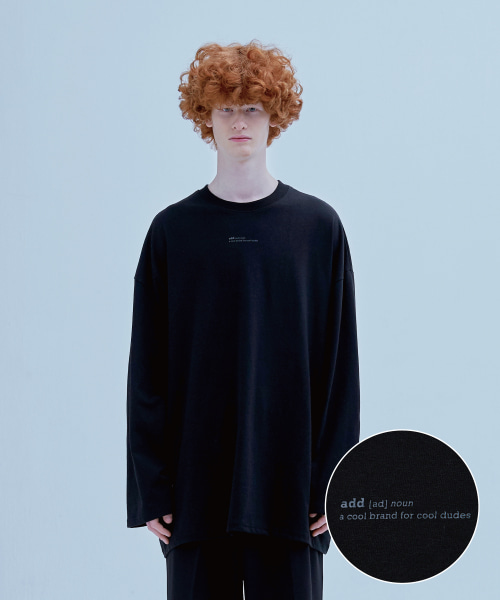 [에드] DEFINITION LONG SLEEVED T BLACK