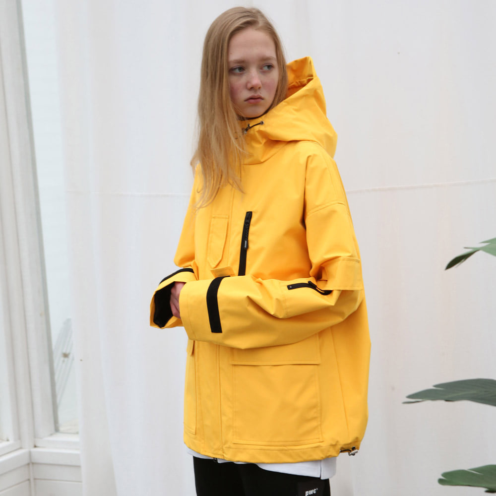 [언아웃핏] UNISEX TECH WINDBREAKER YELLOW