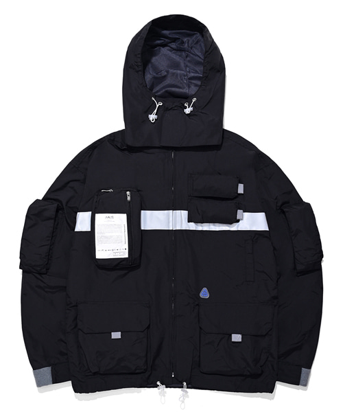 [3/22 배송][더블에이씨] 9-POCKET SMOCK JACKET (black)