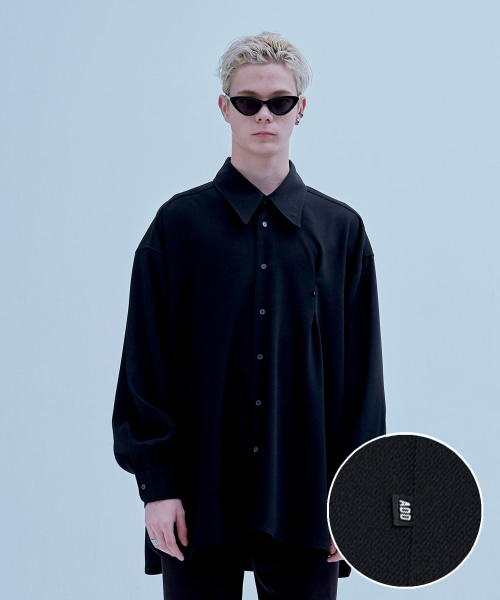 [에드] MINI LABEL AVANTGARDE SHIRT BLACK