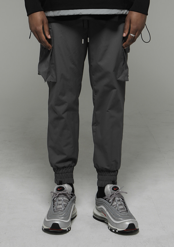 [드네이지] Signature Cargo Jogger Pants Gray