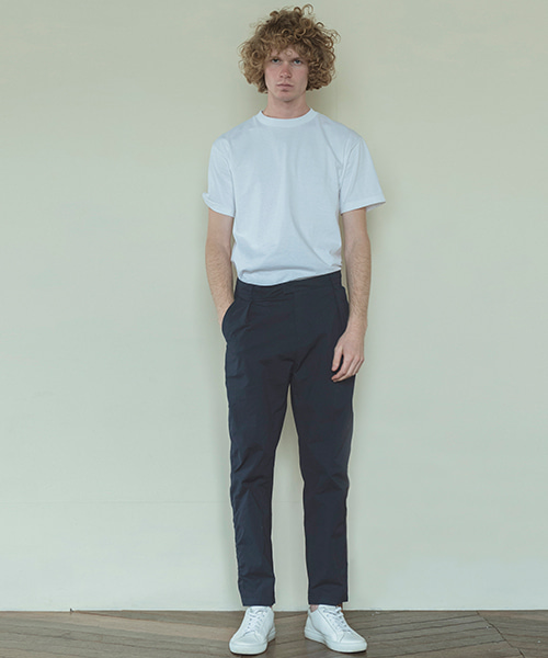 [스탠아드]Navy Puckering Cotton Pants