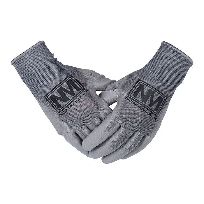 [노매뉴얼] REFLECTIVE LOGO WORK GLOVES - GRAY
