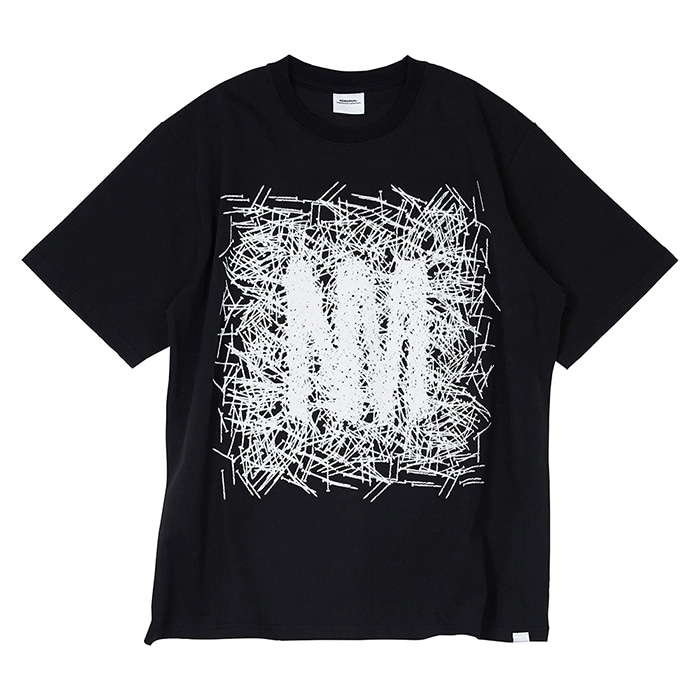 [노매뉴얼] W.N LOGO T-SHIRT - BLACK