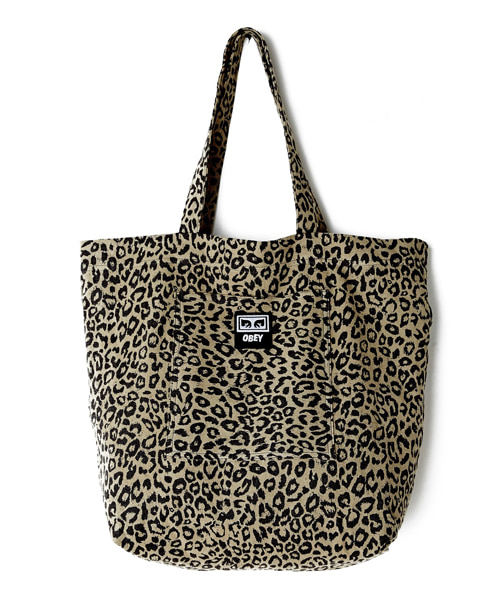 [오베이] WASTED TOTE BAG - LEOPARD KHAKI - 토트백