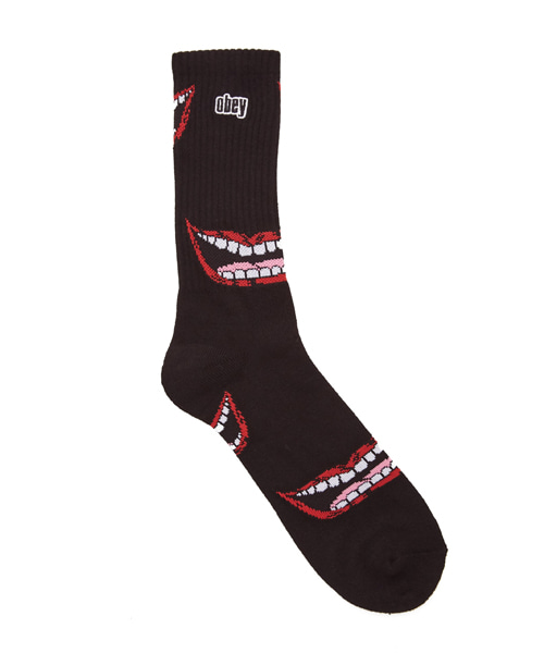 [오베이] LIPS SOCKS - BLACK
