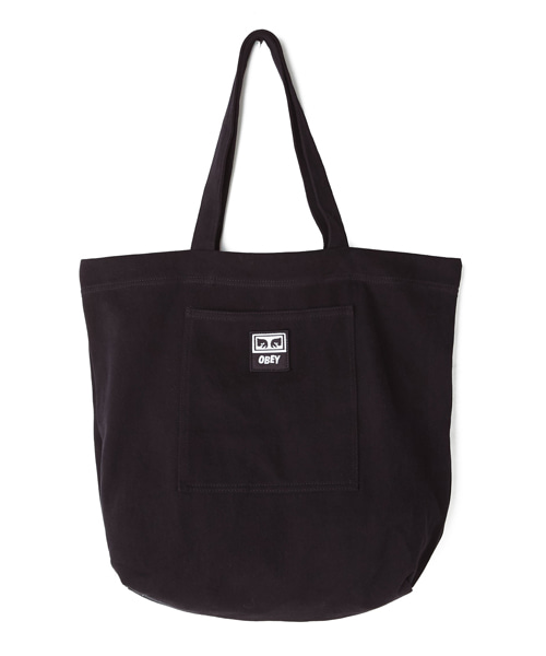 [오베이] WASTED TOTE BAG - BLACK TWILL - 토트백