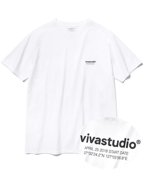 [비바스튜디오] LOCATION LOGO SHORT SLEEVE IS [WHITE] 결제창