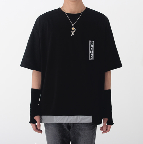 [안단테에디션] Vertical Logo Scotch T-shirt