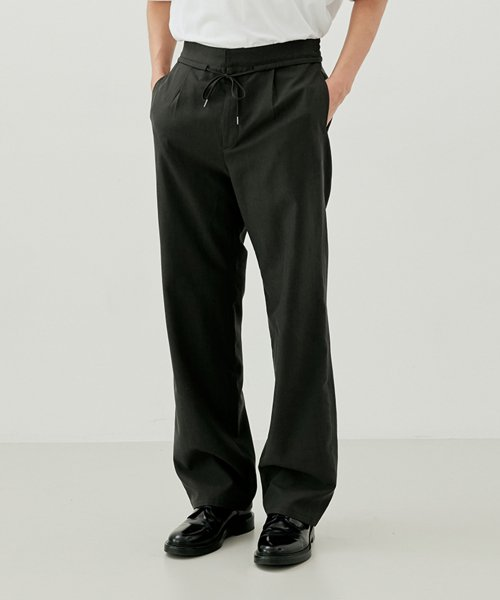 [커렌트] SUMMER PANTS MEN [CHARCOAL GREY]