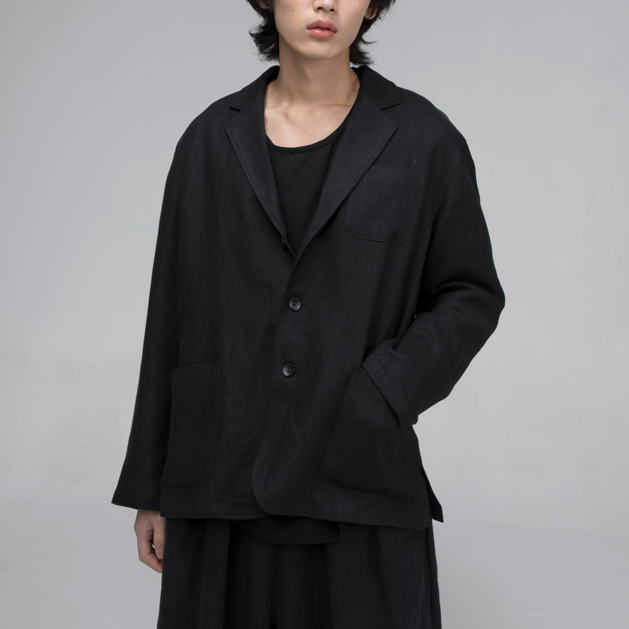 [말렌] unisex unisex over jacket black