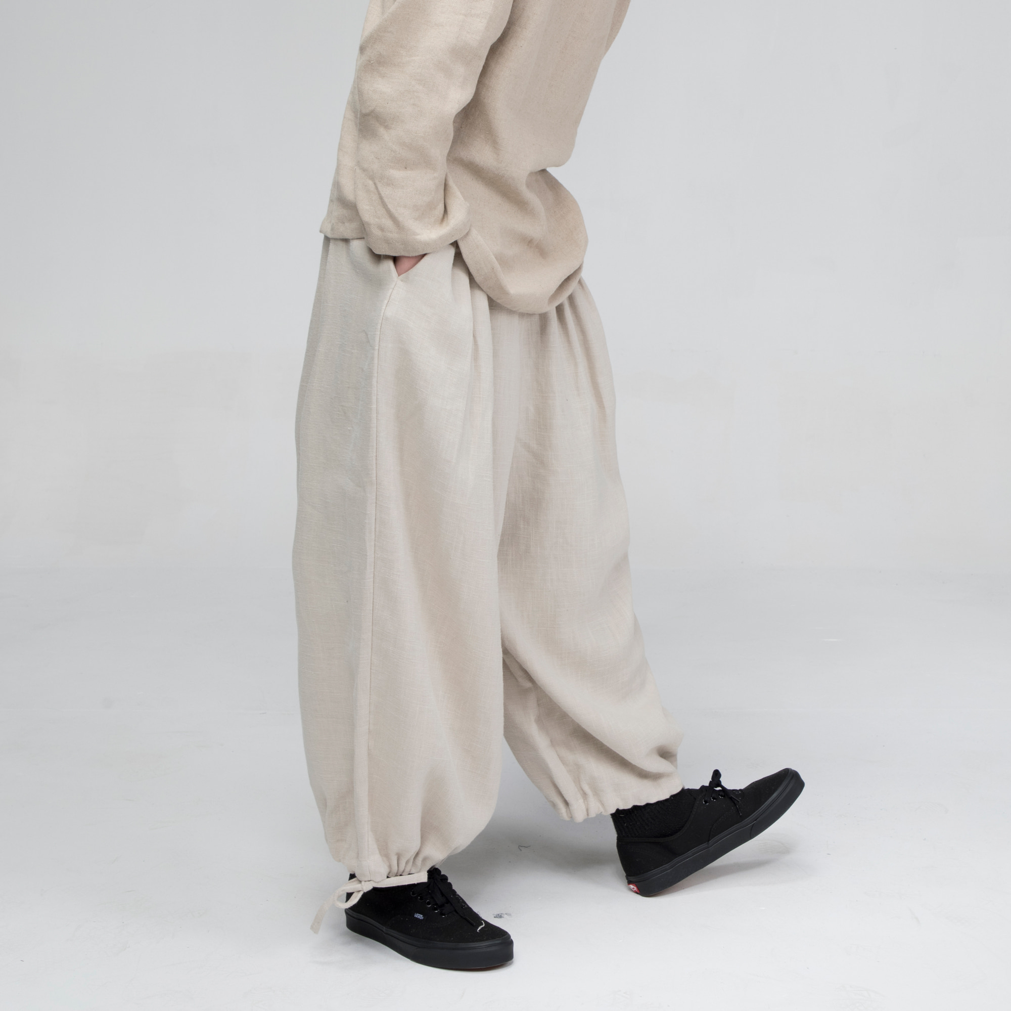 [말렌] unisex balloon pants beige