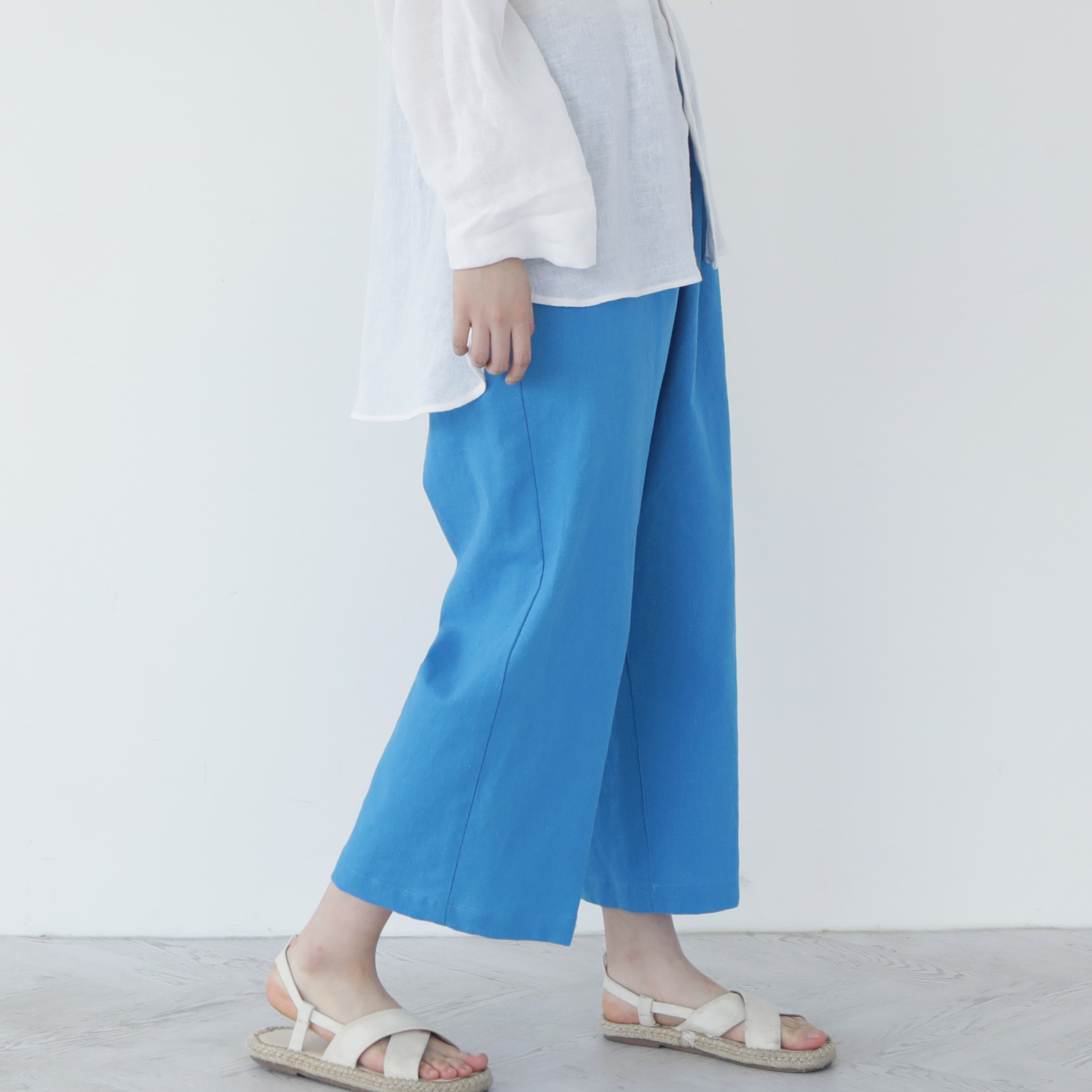 [말렌] unisex straight pants blue